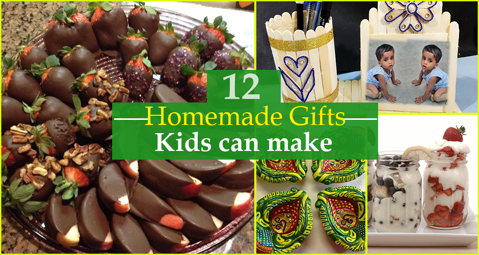 12 thoughtful, homemade gifts that can be made by children