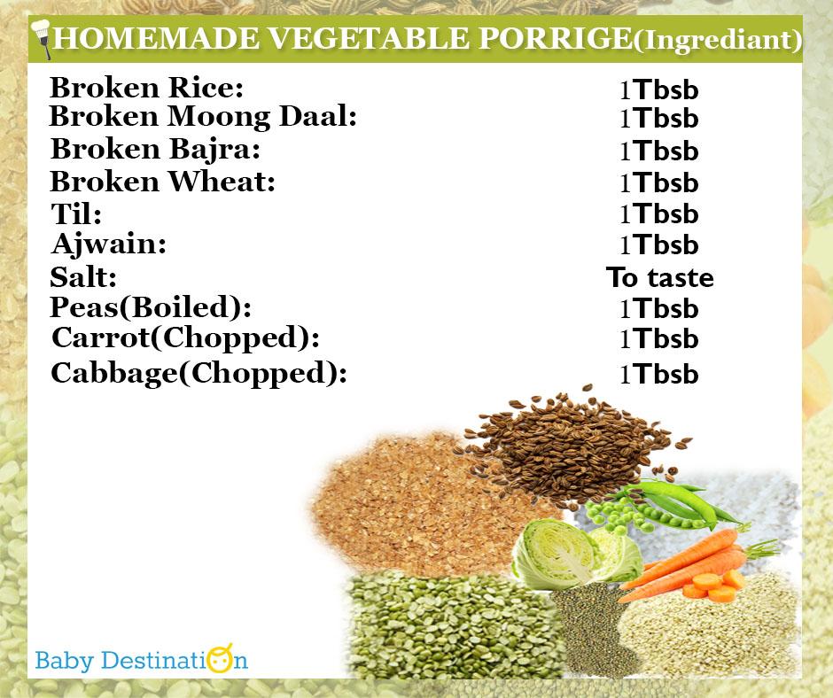 Homemade Vegetable Porridge