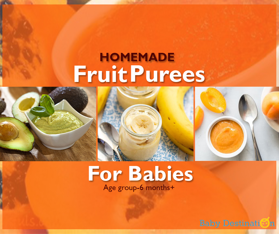 Homemade Fruit Purees For Babies