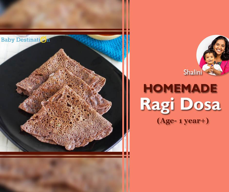 Homemade Ragi Dosa