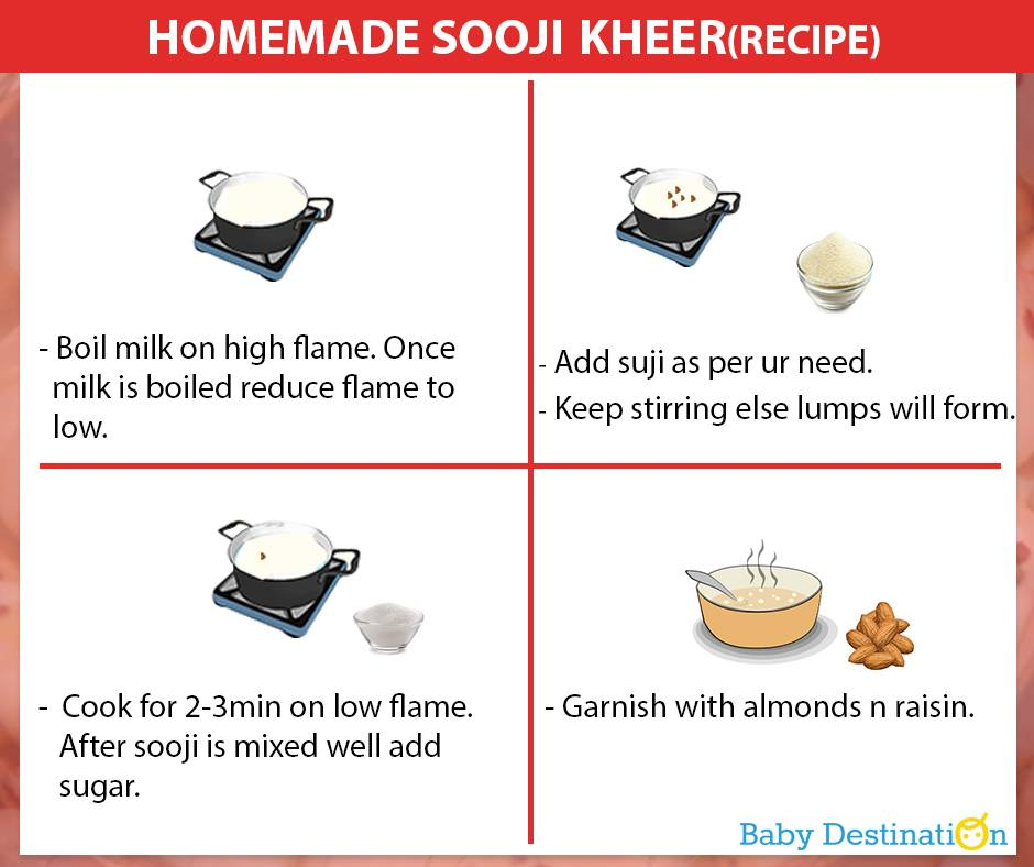 Homemade Sooji Kheer For Babies