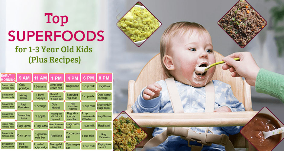 10 Superfoods For 1-3 Year Old Kids (Plus Recipes)