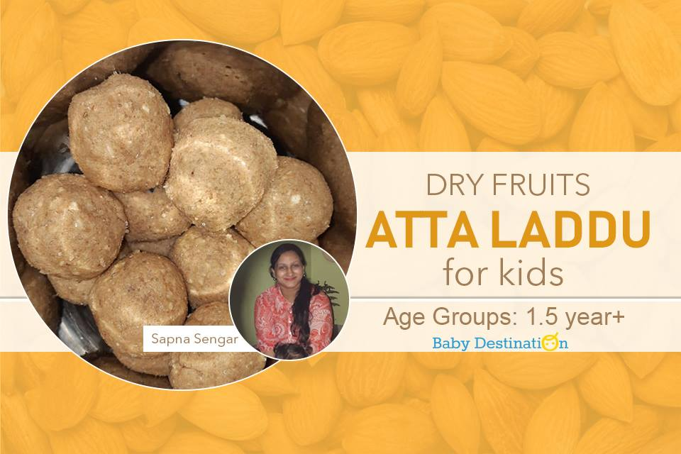 Dry Fruit Atta Ladoo For Kids