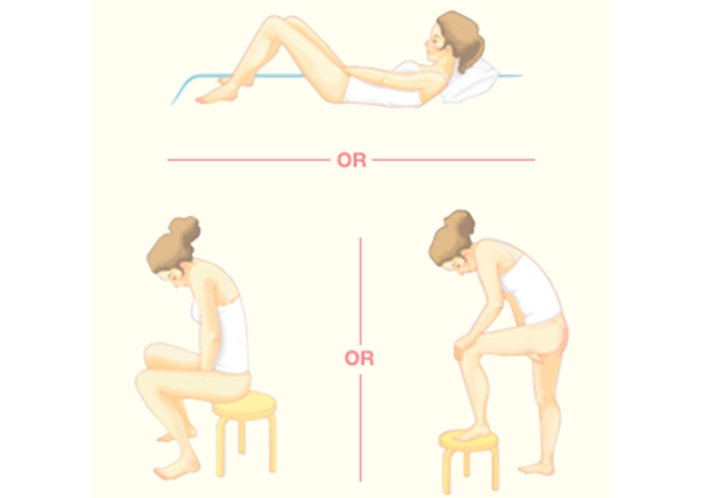 menstrual cup inserting positions