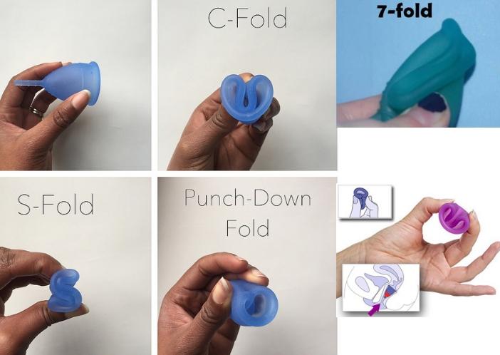menstural cup folding