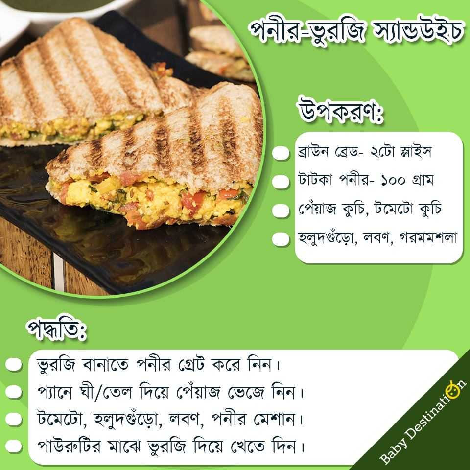 Snacks recipes for kids in Bengali