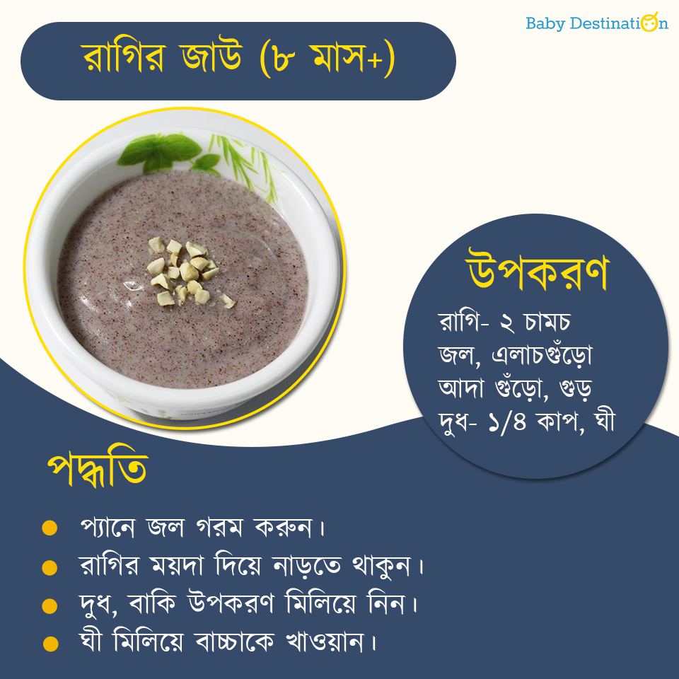 6 month baby food in Bengali