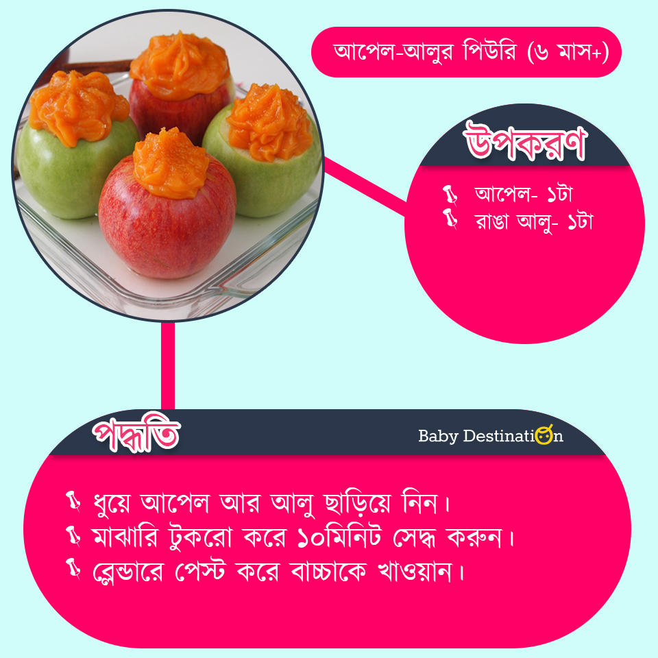homemade baby food in Bengali