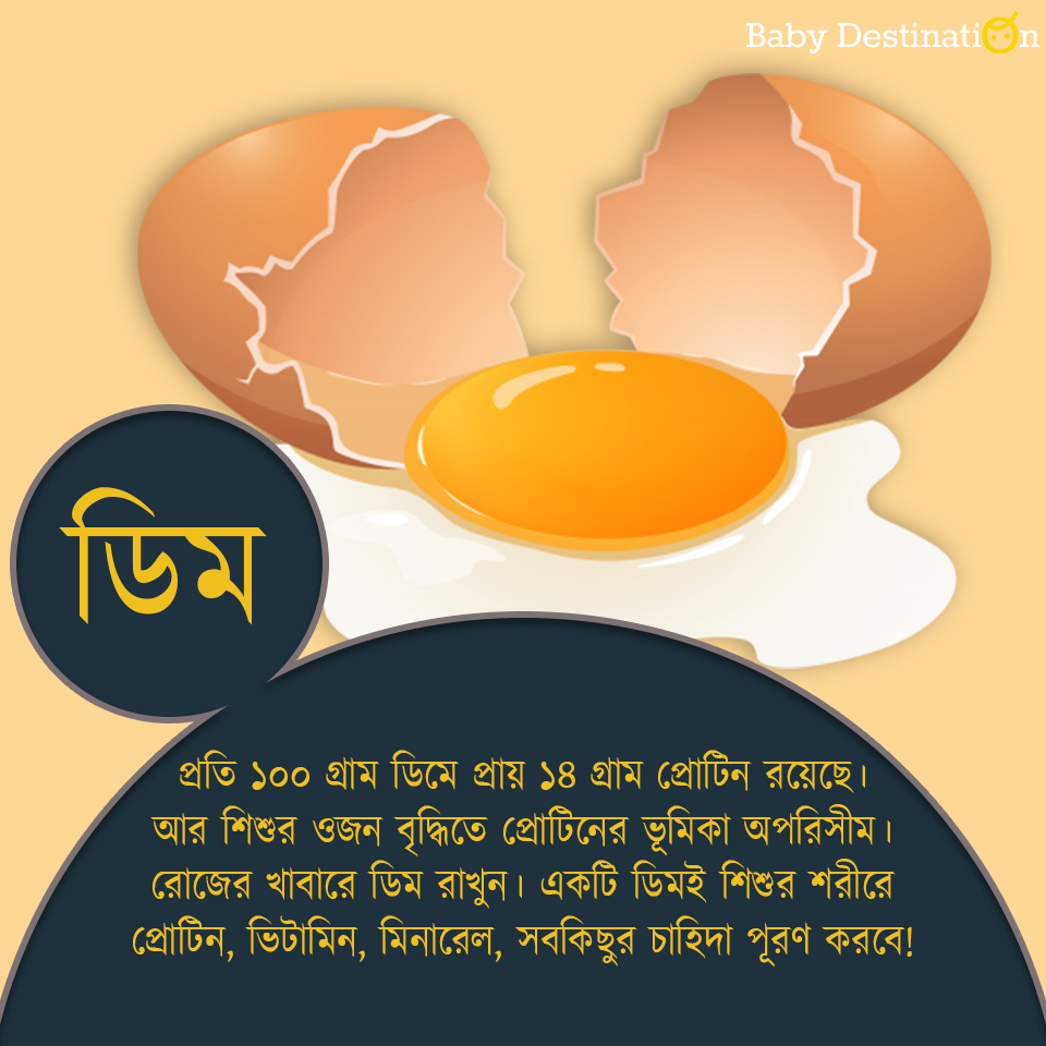 Baby Weight Gain Foods in Bengali