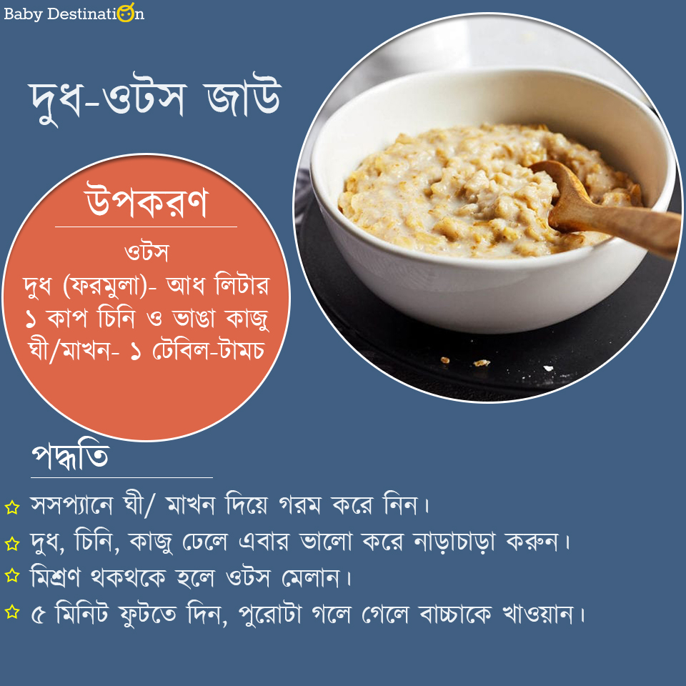Baby food recipes in Bengali