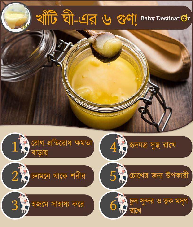 Ghee for babies in Bengali