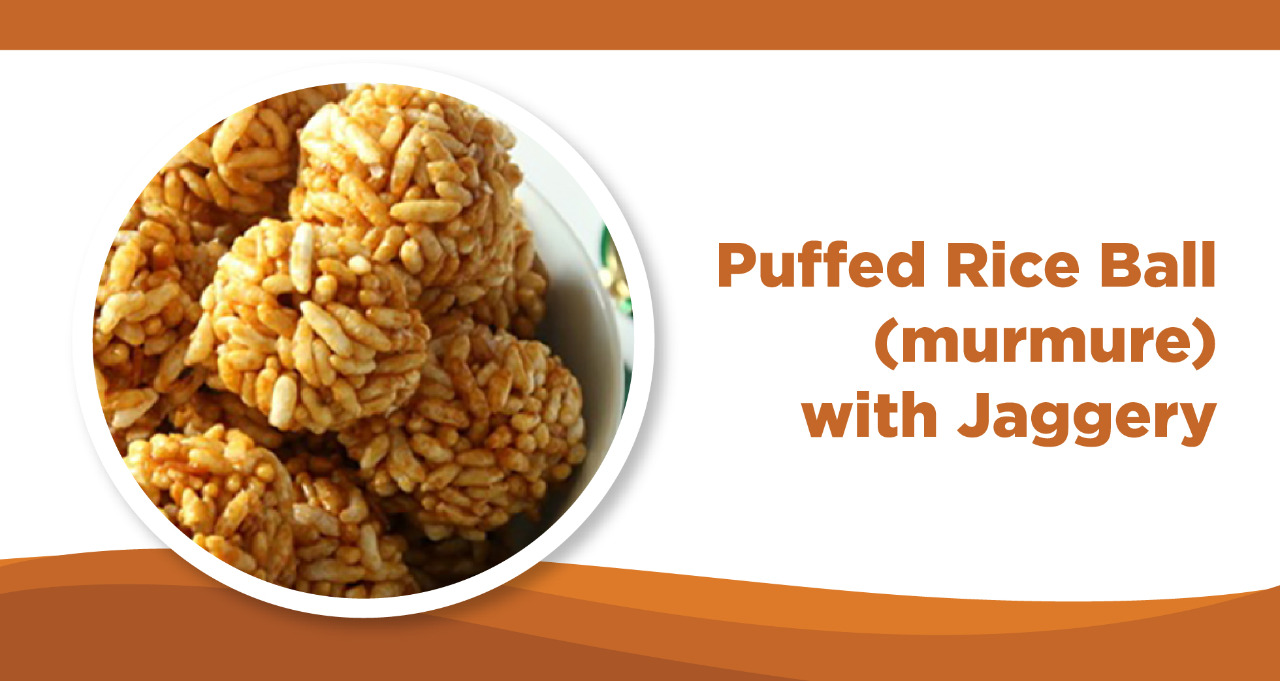 Puffed Rice Balls(murmure) with Jaggery